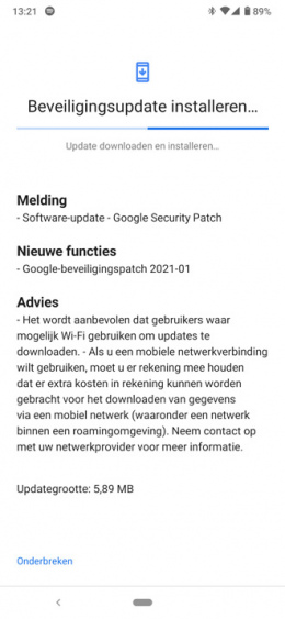 Nokia 6.2 beveiligingsupdate januari 2021