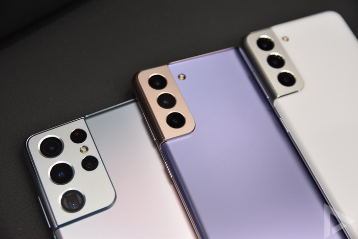 Samsung Galaxy S21 serie achterkant