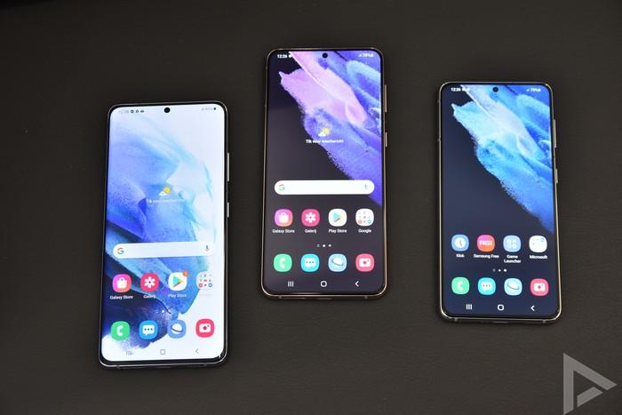 Samsung Galaxy S21 serie voorkant