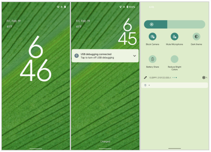 Android 12 thema's