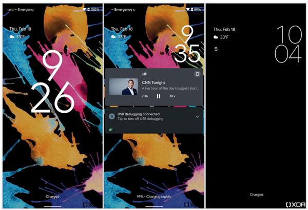 Android 12 vergrendelscherm