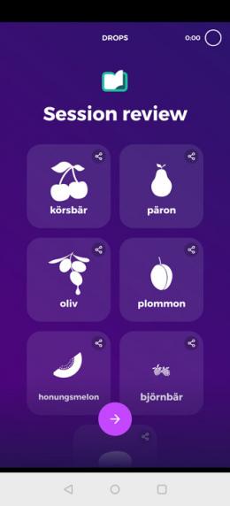 Drops language app