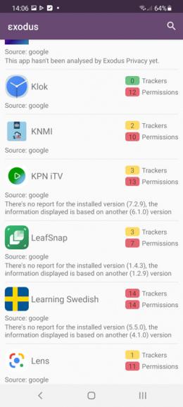 Exodus privacy-app