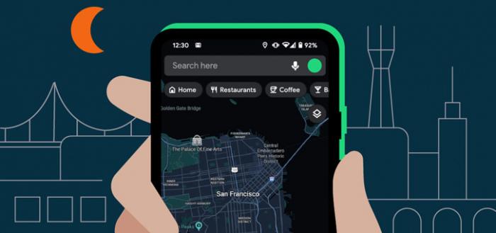 Google Maps voor Android krijgt eindelijk officieel donker thema