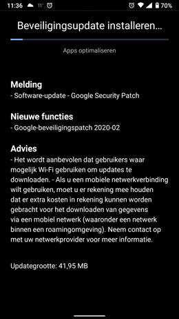 Nokia 6.1 beveiligingsupdate februari 2020