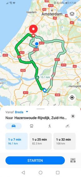 Petal Maps navigatie