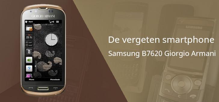 Samsung B7620 Giorgio Armani header