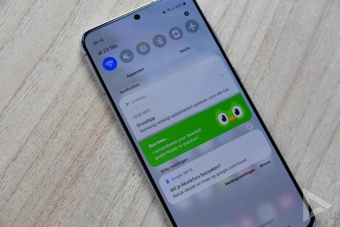 Samsung Galaxy S21+ notificaties
