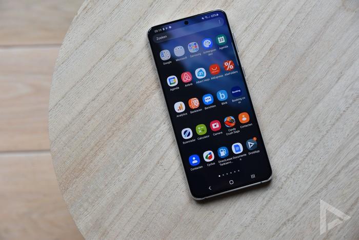 Samsung Galaxy S21+ menu