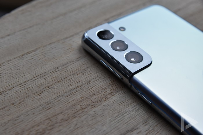Samsung Galaxy S21+ toetsen design