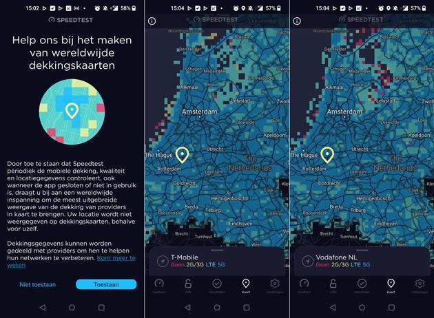 Speedtest app dekkingskaarten