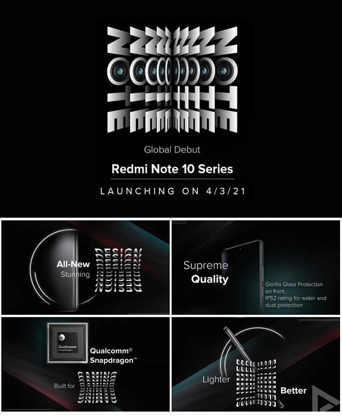 Xiaomi Redmi Note 10 serie teaser