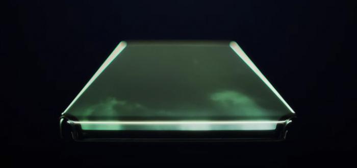Xiaomi smartphone met onwijs vet watervalscherm getoond