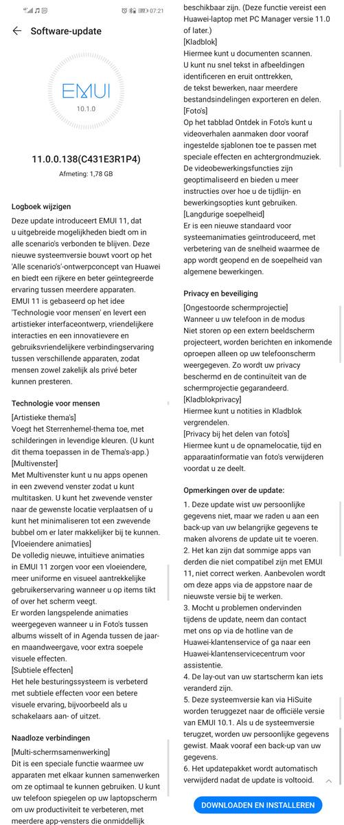 EMUI 11 Huawei Mate 20 Nova 5T