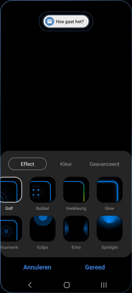 Galaxy S21 edge lighting