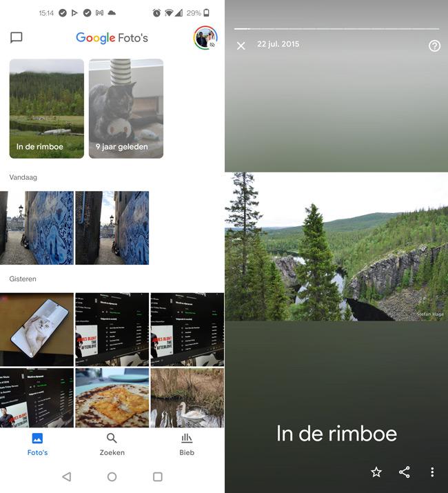 Google Foto's herinneringen