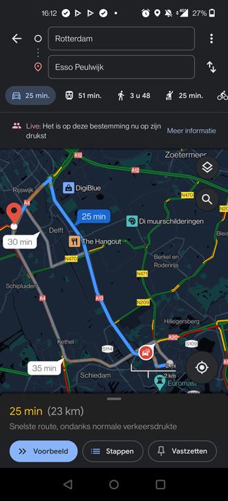 Google Maps donker