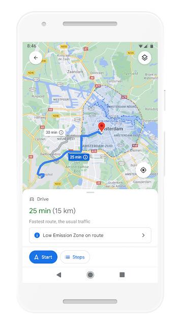 Milieuzone Google Maps
