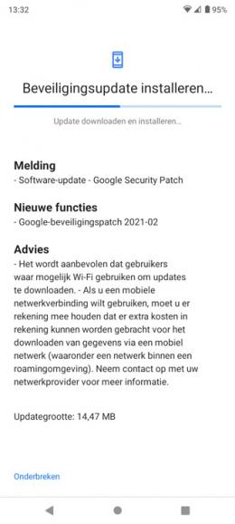 Nokia 5.3 beveiligingsupdate februari 2021