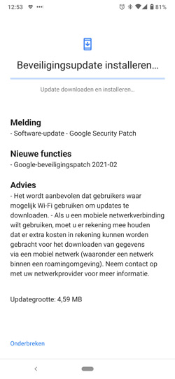 Nokia 6.2 beveiligingsupdate februari 2021