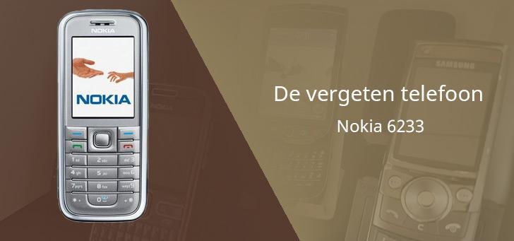 De vergeten telefoon: Nokia 6233 uit 2005