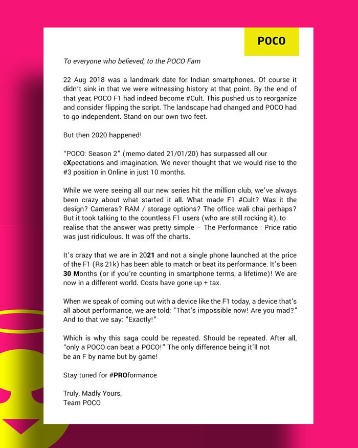 Poco brief 30 maart