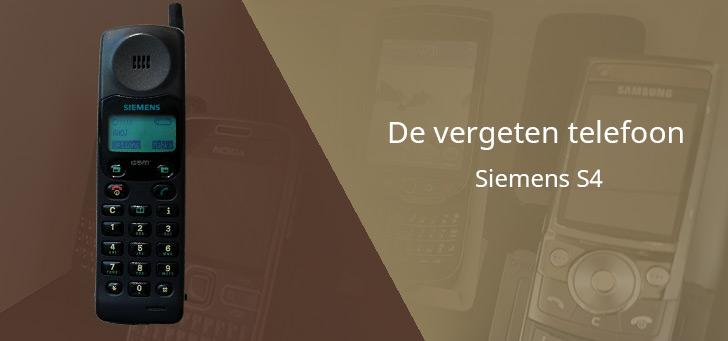 De vergeten telefoon: Siemens S4 uit 1996