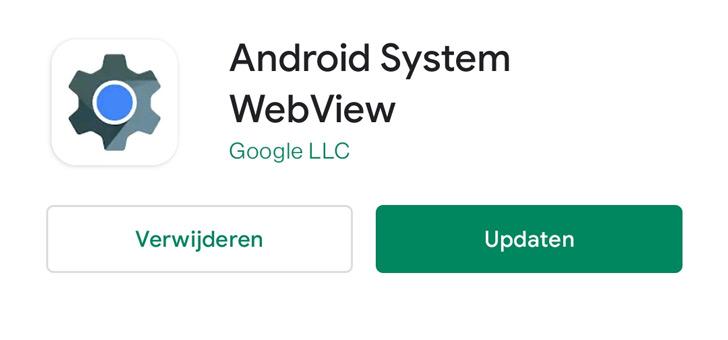 Belangrijke System WebView update fixt probleem met apps die crashen