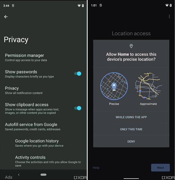 Android 12 permissies