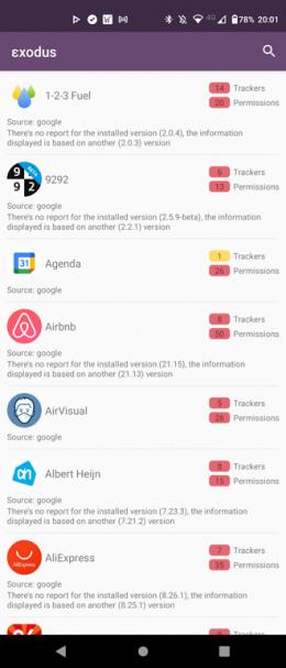 Exodus privacy app