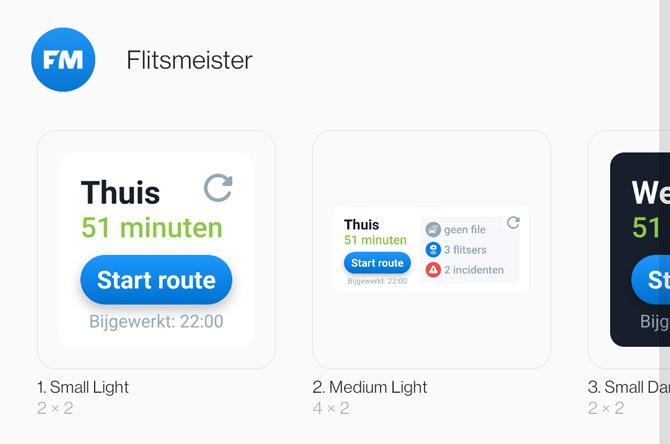 Flitsmeister widget