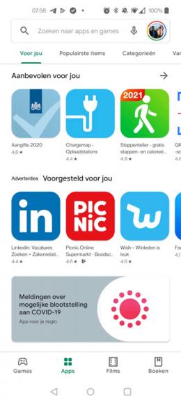Google Play Store nieuw