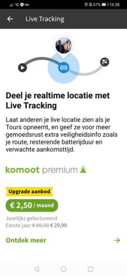 Live Tracking Komoot