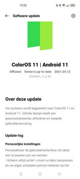 Oppo Reno 4 Android 11