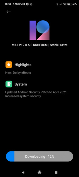Poco F3 april update