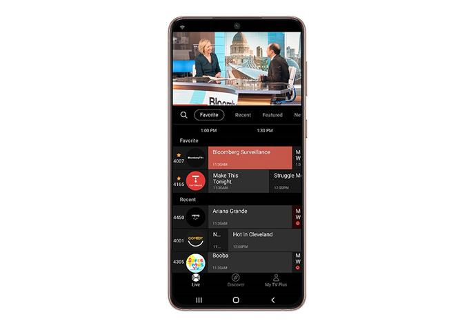 Samsung TV Plus app