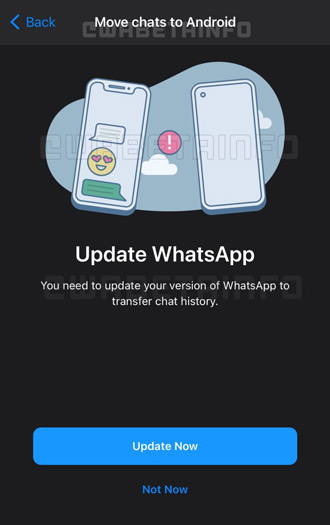 WhatsApp migratie Android iPhone chats