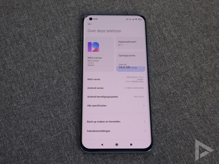 Xiaomi Mi 11 software
