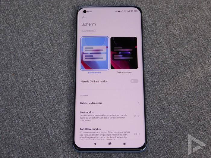 Xiaomi Mi 11 scherminstellingen