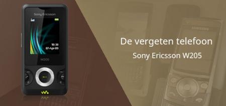 De vergeten telefoon: Sony Ericsson W205