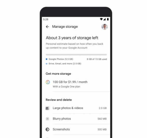 Google Foto's opruimtool