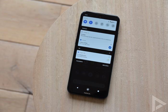 Nokia X20 notificaties