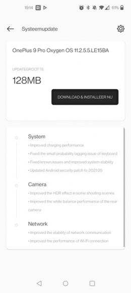 OnePlus 9 Pro OxygenOS 11.2.5.5