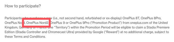 OnePlus Nord 2 aanwijzing