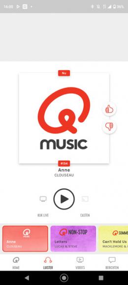 QMusic app chromecast