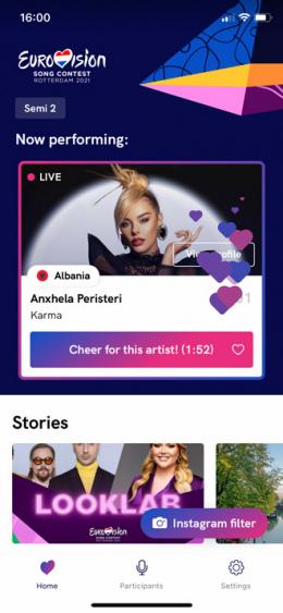 Songfestival app klappen applaus