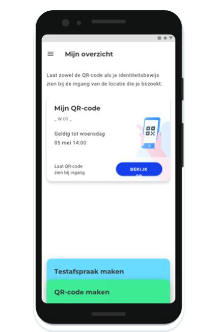 CoronaCheck app QR