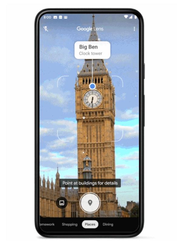 Google Lens plaatsen