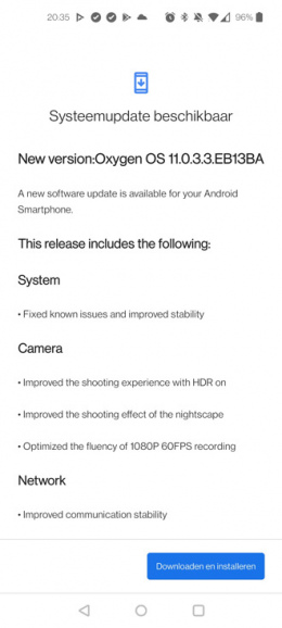 OnePlus Nord CE 5G oxygenos 11.0.3.3