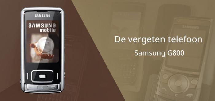De vergeten telefoon: Samsung G800